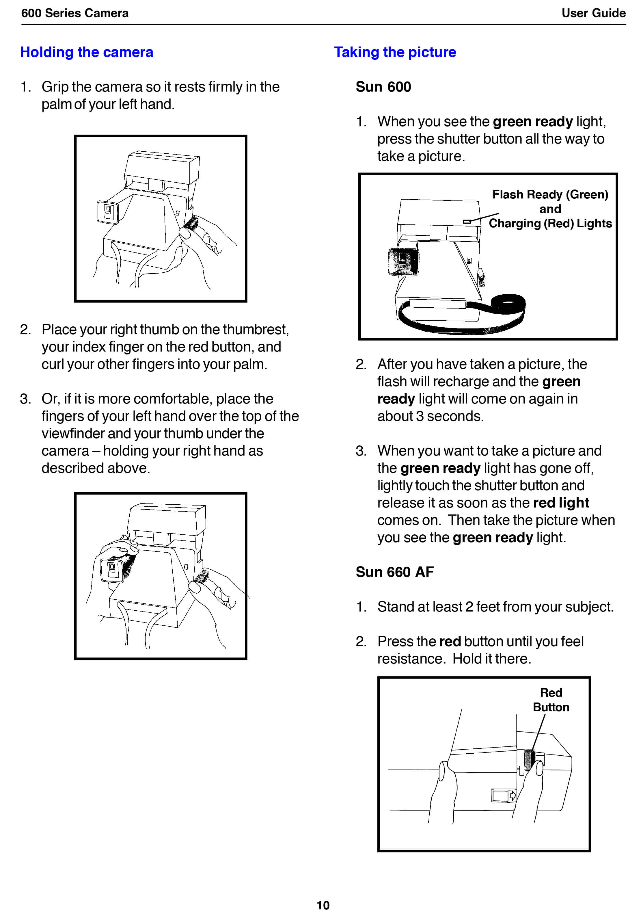 Polaroid 600 Series Camera User Guide Instant University Parallel Diagram
