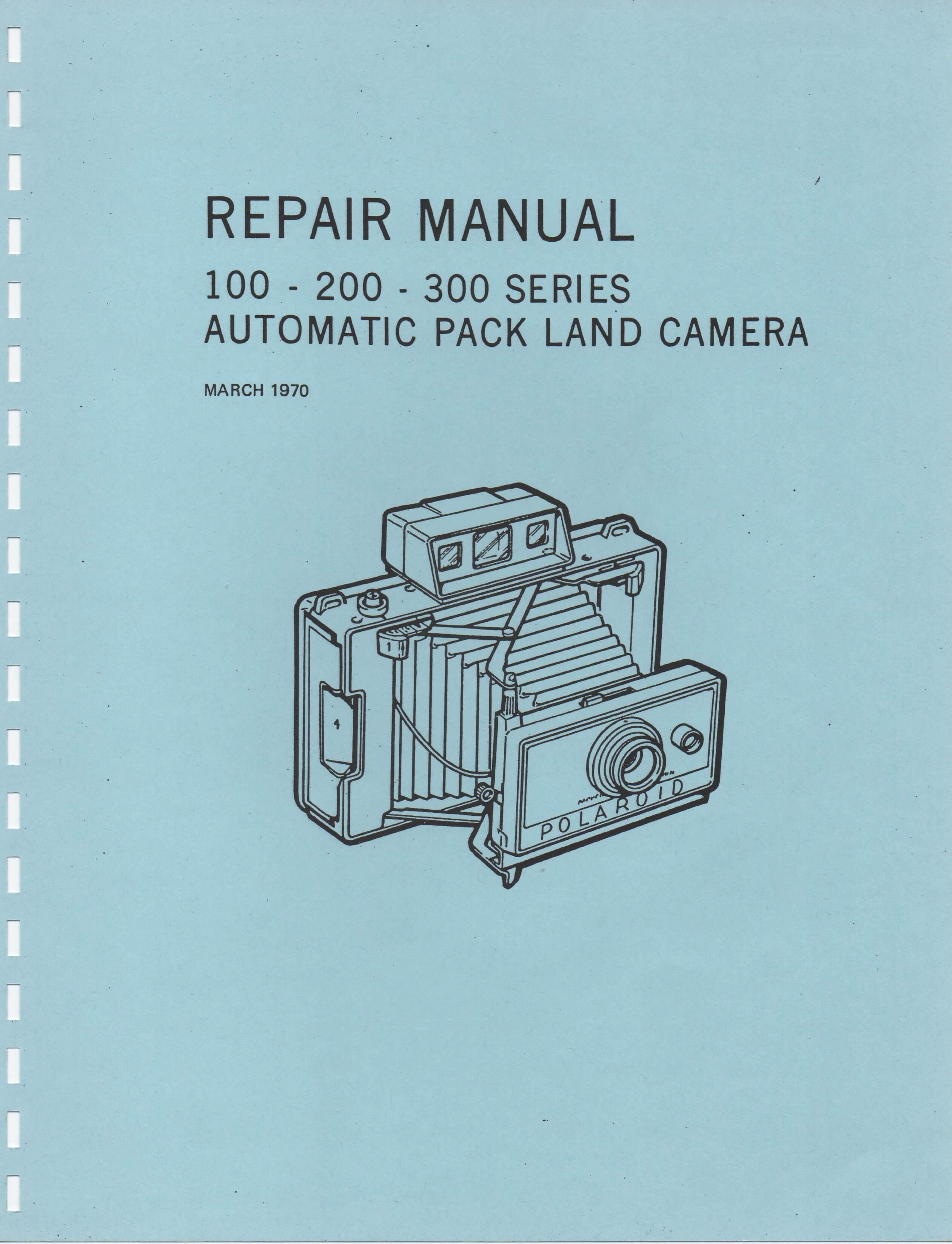 100 200 300 series automatic pack land camera repair manual rh instant university polaroid 1000 repair manual polaroid 636 repair manual