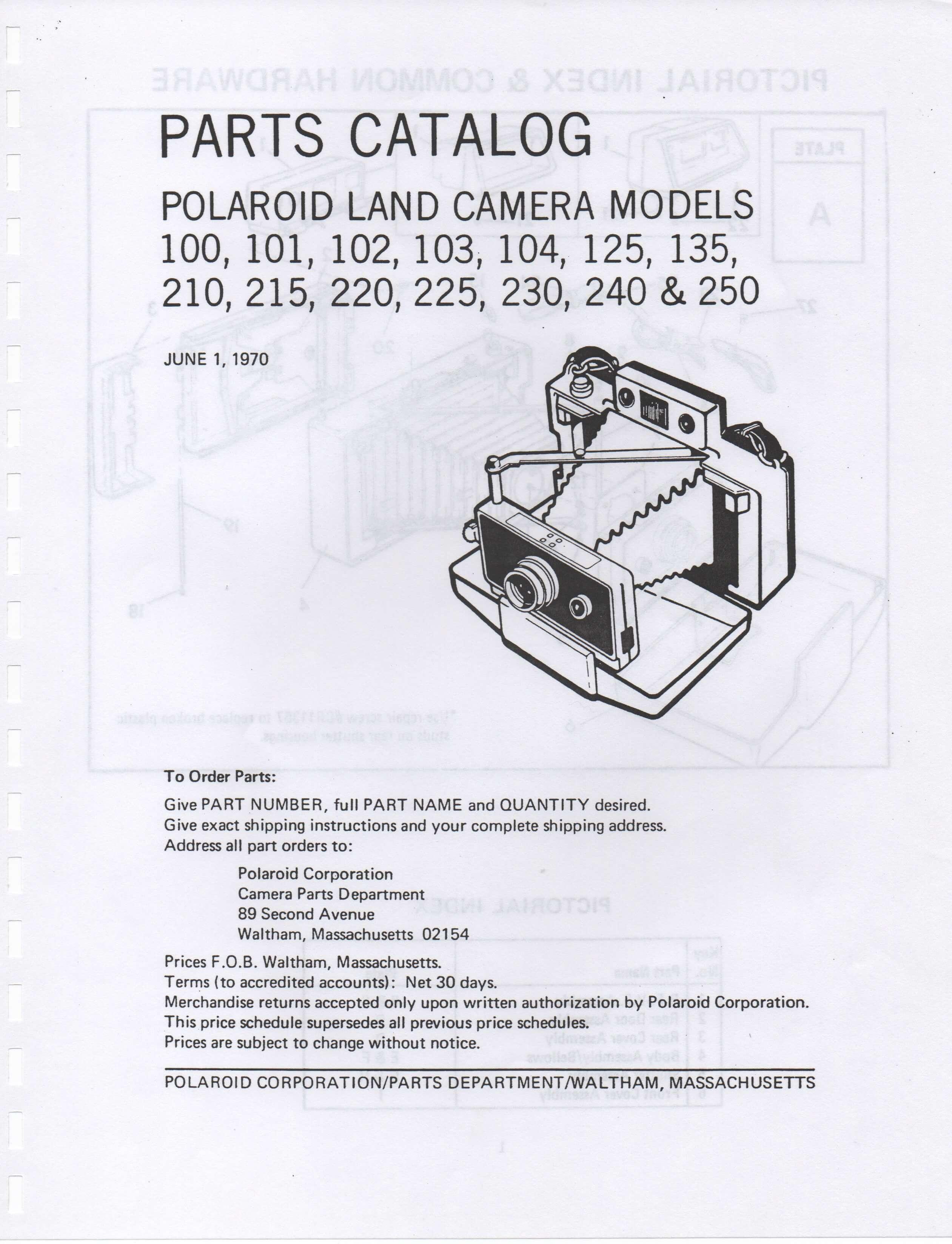 100 200 300 series automatic pack land camera repair manual rh instant university polaroid sx-70 camera repair manual polaroid 600se repair manual